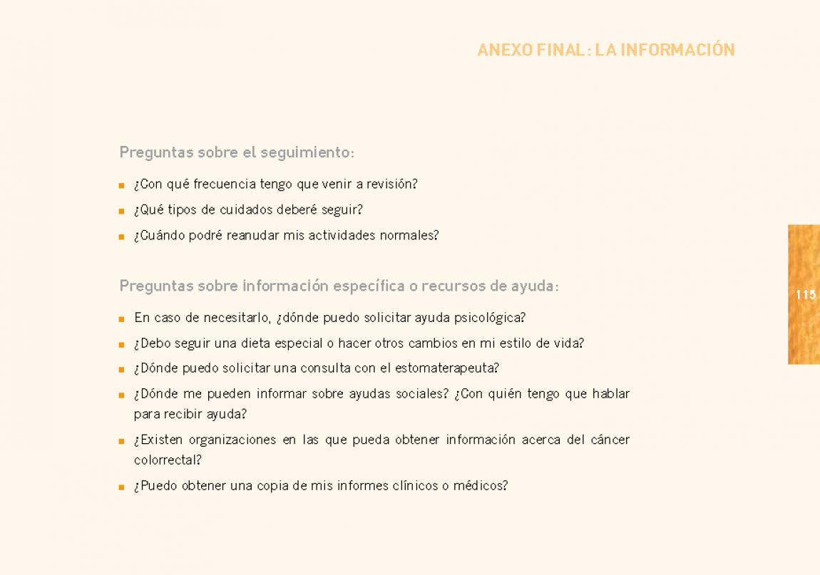 Cáncer Colorrectal: Guía para pacientes-colostomía - Escuela de ...